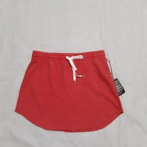 Forever 21 Red Unique Finish Wash Short Skirt L